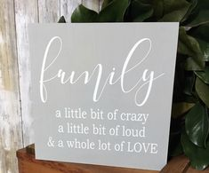 Ready to Ship! Canvas Art Quotes, Canvas Signs, Diy Canvas Art, Wood Canvas, Canvas Ideas, Family Canvas, Family Wall Art, Family Painting, Diy Painting