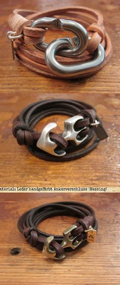 #mens #leather bracelets                                                                                                                                                                                 Más