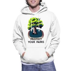 Protect Your Parks Hoodie by Stanley Thomas Clough Works Progress Administration, Community Activities, Graphic Tees, Graphic Sweatshirt, Parks, Action, Hoodies, Creative, Group Action