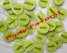 Tennis Bag Tags Quantities of 8 Tennis Team Gifts by Toddletags