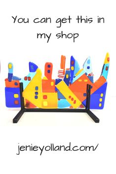 Bright happy Barcelona inspired sculpture for your home or office.  Fun and creative gift giving for your family and friends.