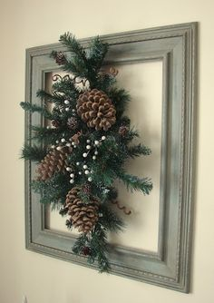 old picture frame wreath