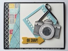 by Lisa: Snapshot, Hip Notes, Flashback dsp, On Film framelits, & more. She explains her faux Blendabilities technique. All supplies from Stampin' Up!