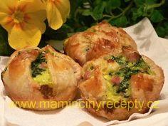 Špenátové košíčky Baked Potato, Pizza, Potatoes, Cupcakes, Baking, Ethnic Recipes, Bread Making, Patisserie, Potato