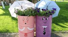 Let your garden be an expression of your personality. Make decorations from your old stuff to make s...