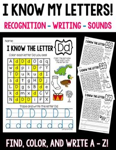 Engaging Letter practice from A-Z!