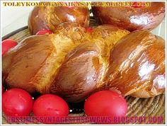 ΤΣΟΥΡΕΚΙ ΠΑΣΧΑΛΙΝΟ !!! Greek Desserts, Greek Recipes, Greek Easter, Baked Potato, Favorite Recipes, Bread, Vegetables, Cooking, Sweet