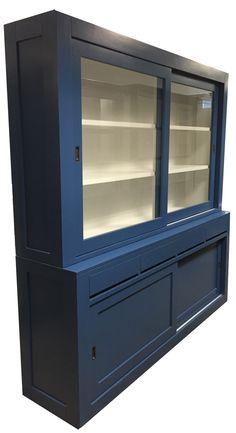 Buffetkast blauw Diemen 220cm