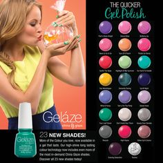 23 New Gelaze Shades! More of the Colours you love, now available in a gel that lasts. Our high-shine long lasting colour technology now includes even more of the most in-demand China Glaze shades. Discover all 23 new shades today!  #gelaze #gelazecraze #chinaglaze #chinaglazeofficial