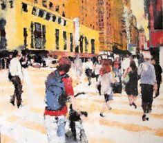 """Saatchi Art Artist Hervé CARRIOU; Painting, """"Scène de rue 1"""" #art"""