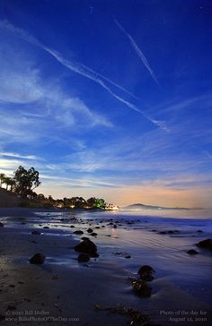 Butterfly Beach just after sunset, Montecito, California