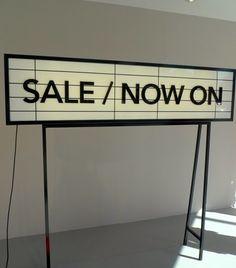 Great way to display sale time! @Joe Jonge www.trakrecruiting.com - fashion & retail recruitment specialists