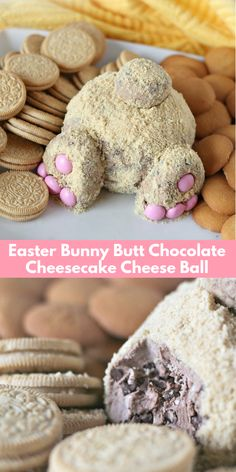 Easter Bunny Butt Chocolate Cheesecake Cheese Ball - This Easter Bunny Butt Chocolate Cheesecake Cheese Ball Turns A Delicious Double Chocolate Cheesecake Cheese Ball Into The Cutest Sweet Treat Ever With A Decadently Sinful Chocolate Cheesecake Base Easter Snacks, Easter Brunch, Easter Treats, Easter Recipes, Dessert Recipes, Easter Food, Easter Party, Easter Decor, Cute Easter Desserts
