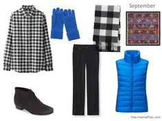 The Vivienne Files; SEPT additions; I have a blue fleece I could use instead of the puff. Love this outfit!