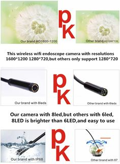 Bakeey WiFi Endoscope Borescope Inspection Camera Rigid Cable for Android IOS Wifi, Cable, Smartphone, Android, Technology, Toys, Cabo, Tech, Activity Toys