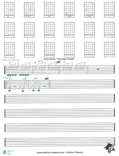 Katy Perry Teenage Dream Guitar Tab by Jeffrey Thomas. Learn to play this song with my free guitar tab and set up a free Skype guitar lesson today!