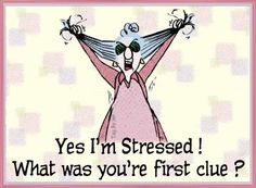 Yes I'm stressed!  What was your first clue?
