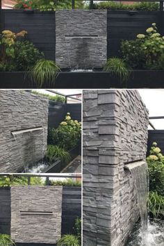 Wasserfall garten How Do I Get My Child to Be Polite? Parents often ask me questions that start like Modern Water Feature, Small Water Features, Backyard Water Feature, Water Features In The Garden, Ponds Backyard, Backyard Landscaping, Outdoor Water Features, Outdoor Wall Fountains, Garden Fountains