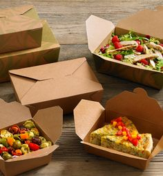 Sustainable Catering - Food packaging can be an over looked aspect when finalising the catering details. Select products which are created with renewable natural resources.