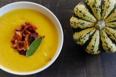 Sweet Dumpling Squash Soup with Crispy Bacon by Foxes Love Lemons, via Flickr