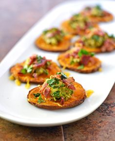 Sweet-Potato-Bites-with-Avocado-and-Bacon-1 by Law Students Wife, via Flickr