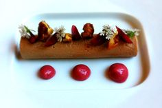 Foie Gras Torchon w/Smoked Walnuts and Cherries at Eva  W Hollywood
