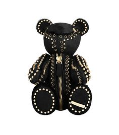 Burberry Studded Black Teddy Bear for sale online Black Teddy Bear, Teddy Bears, Expensive Gifts, Daddys Girl, Dominatrix, The Girl Who, Luxury Gifts, Gifts For Women, Sexy