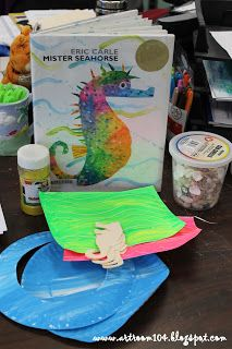 Art Room 104: Kindergarten: Eric Carle's Mr. Seahorse Project