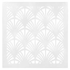 Wanddekoration aus Metall in durchbrochener Optik, weiß, 60 x 60cm, ABY