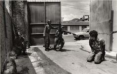 Arrest of an autorepair mechanic for failure to carry an ID card_San Salvador_early 1980s_photograph copyright John Hoagland