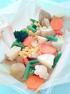 お取り寄せのドレッシングがまた合うんだ(笑) - 10件のもぐもぐ - 温野菜のサラダ by shinyorita