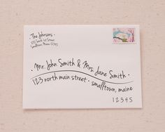 A beautifully written address is the perfect finishing touch to your invitations or announcements, but who has the time, or the nice handwriting, to do it themselves anymore? Enter a quick and easy, y