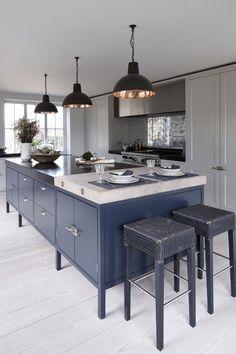 Warm grey cabinetry
