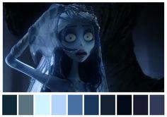 El Cadáver de la novia, Tim Burton, Mike Johnson. (2005) | 29 Escenas iconicas de películas reducidas a una paleta de color