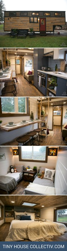 A tiny house​ built for a family with twin toddlers