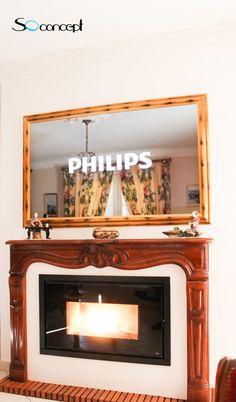 nous avons ici un cadre tv miroir de style classique qui dissimile un cran philips de 55 ce. Black Bedroom Furniture Sets. Home Design Ideas