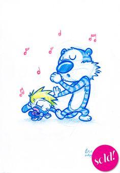 Calvin and Hobbes by PodgyPanda
