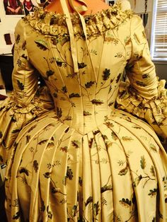 The back of Louise de Rohan's costume.