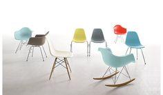 Eames® Molded Plastic 4-Leg Side Chair (DSX), Chrome base