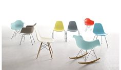 Eames® Molded Plastic Dowel-Leg Armchair (DAW)  Designed by Charles and Ray Eames for Herman Miller®