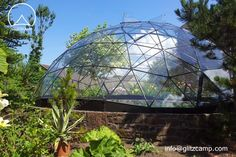 Dia. 10m Glass Dome House - Backyard Dones http://www.glamping-tent.com/glass-dome-house/