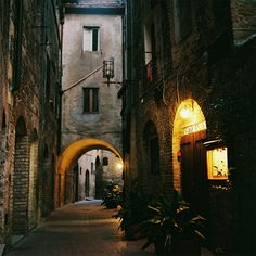 San Gimignano is famous for its medieval architecture in the province of Siena, Tuscany, north-central Italy
