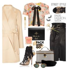 """""""Paris Fashion Week: Pack & Go"""" by esch103 ❤ liked on Polyvore featuring Michael Kors, Oscar de la Renta, River Island, Gucci, Gianvito Rossi, Henri Bendel, Too Faced Cosmetics, Burberry, Janessa Leone and Christian Lacroix"""