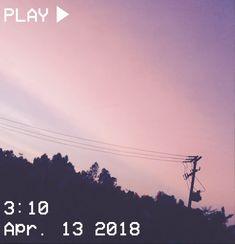 M O O N V E I N S 1 0 1 #vhs #aesthetic #sunset #purple #pink #clouds