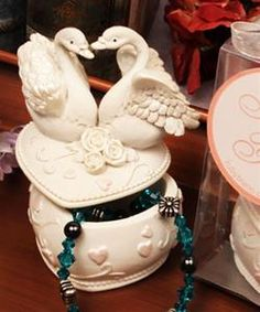 """Love Swans"" Jewelry Box"