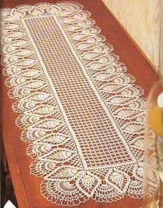 Diy Crafts - crochet doily, center piece ,table runner PATTERN (chart with instructions) Filet Crochet, Crochet Doily Patterns, Thread Crochet, Crochet Afghans, Scarf Crochet, Diy Crafts Crochet, Crochet Home, Crochet Projects, Knitting Projects