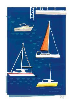 Boats near la banchina · sullivanand3rd.com · #illustration #italy