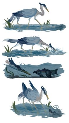 Heron gryphon by fancypigeon.deviantart.com on @DeviantArt