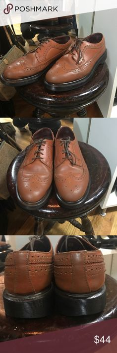 Dr.Martens brown leather wingtip brogues Dr.Martens brown leather wingtip brogues. Style #14147. EUC. Only a tad bit of wear to very edge of heel. Not at all noticeable. Dr. Martens Shoes Oxfords & Derbys