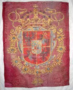 LSH | trumpetfana Polen-Litauen-Vasa circa 1600 Painted silk flag for a trumpeter